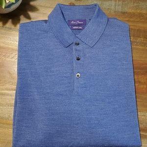 Alan Flusser Merino Wool 3 Button Sweater NWOT